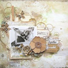 Family+Always+Together-+Prima - Scrapbook.com LOVE LOVE LOVE this LO, colors, theme, use of space MUST DO