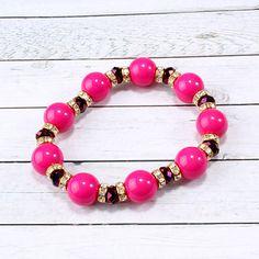 Bead & Rhinestone Bracelet