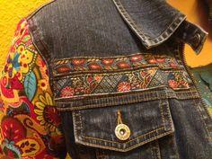 DIY Jeansjacke im Desigual-Stil