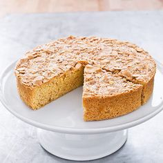 Almond Cake recipe made from ground blanched almonds rather than almond paste.