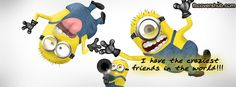 Craziest Friends Fb Cover Facebook Timeline Cover - FB Cover #minions #despicableme #cute #funny #fbcovers #friends