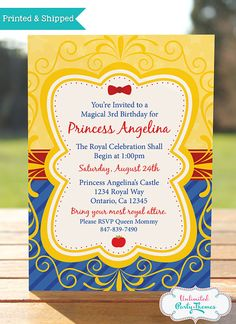 Hey, I found this really awesome Etsy listing at https://www.etsy.com/listing/163163685/princess-snow-white-birthday-invitation
