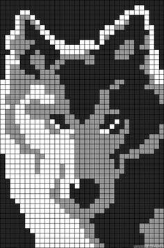 Wolf perler bead pattern | perlage