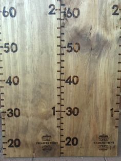 Children's Timber wooden height chart metric and imperial cm and feet personalised