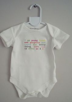 Fantastic slogan bodysuit/vest babygro baby girl or boy www.millymollymorley.co.uk