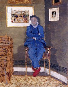 Édouard Vuillard - Félix Vallotton in His Studio, 1900, Musée d'Orsay.