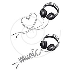 Music love headphone with heart digital clip art by Illustree, $3.00  https://www.etsy.com/listing/113333640/music-love-headphone-with-heart-digital?ref=shop_home_active_12
