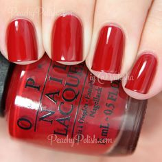 OPI Cinnamon Sweet | Holiday 2014 Gwen Stefani Collection | Peachy Polish - another perfect looking red online