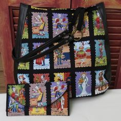"""Cartas Marcadas, Day of the Dead, White Fabric Over the Shoulder Purse with Wallet  This bag is made for those days when you need more than your cell phone and wallet. There is plenty of room inside this purse to carry all the other things we think we need to carry around with us! This purse is made to wear over the shoulder.  Use coupon code """"pwcombo"""" to save $10.00 when you purchase this purse with any wallet."""