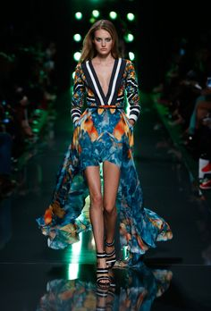 Elie Saab • Dive Into the Deep Blue - Opening shades of tropical colors
