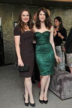 Hayley with Gemma Arterton at a Dolce & Gabbana party