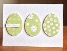 Osterkarten mit Designpapier, Eierstanzen von Sizzix