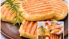 Fantastické placky z varených zemiakov plnené šunkou a syrom – najjednoduchší recept: Vôbec nie sú mastné, deti sa od nich nevedia odtrhnúť! Camembert Cheese, Healthy Recipes, Healthy Food, Pineapple, Dairy, Bread, Fruit, Basket, Healthy Foods