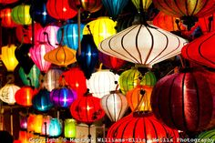 Chinese Lanterns at the Full Moon Festival at Hoi An, Vietnam. On the 14th day of every Lunar month, the Unesco World Heritage Site of Hoi A...