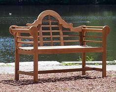 "Achla Wooden Lutyens Bench, 54""L at BestNest.com"