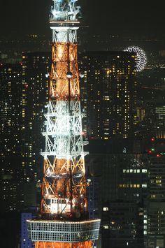 """""""dontrblgme:  Tokyo Tower observatories (via Meg Foto Japão)   """""""