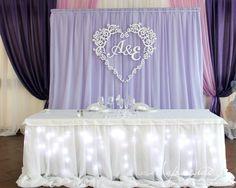 Оформление президиума, Нежная сиреневая свадьба!, Свадебное оформление и флористика, Украшение зала на свадьбу