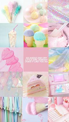 Pink aesthetic, aesthetic collage, rainbow aesthetic, pastel wallpaper, c. Aesthetic Pastel Wallpaper, Aesthetic Backgrounds, Pink Wallpaper, Aesthetic Wallpapers, Rainbow Aesthetic, Pink Aesthetic, Color Collage, Girly, Aesthetic Collage