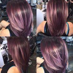 New hair July 2016 by Amie Adams. Hair Color Purple, Hair Color And Cut, Purple Style, Deep Purple, Purple Wig, Fall Hair Colors, Ombré Hair, New Hair, Hair Gel