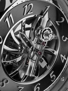 This is the Double Flying Tourbillon created by Vincent Calabrese - L'Epée 1839 -