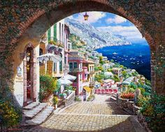My Fave place on earth - Positano mural/wallpaper - if we did a landscape mural,  Positano would be the place.