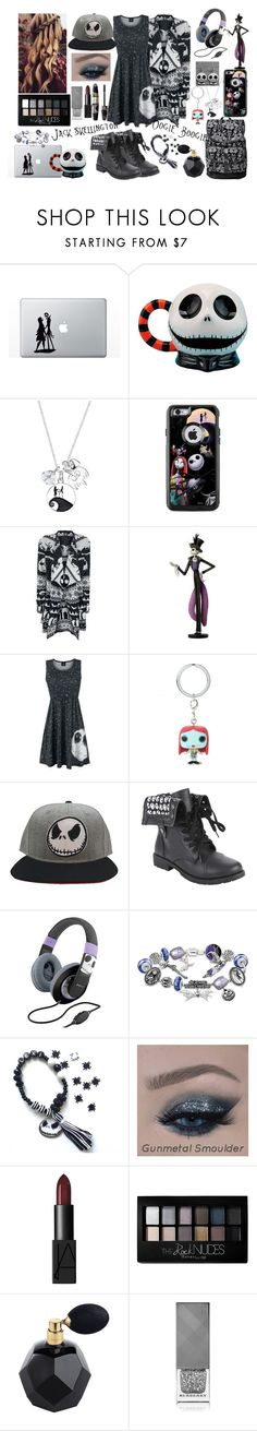 """The Nightmare before christmas"" by sparkflower ❤ liked on Polyvore featuring Disney, Hot Topic, iHome, The Bradford Exchange, NARS Cosmetics, Max Factor, Maybelline and Burberry"