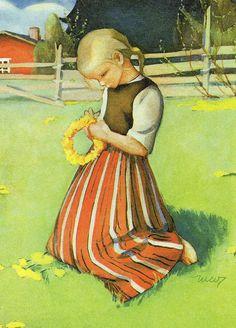 Pin by Heli N on Martta Wendelin . Art And Illustration, Art Nouveau, Fairytale Art, Old Postcards, Vintage Pictures, Christmas Art, Martini, Vintage Art, Photo Art