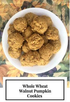 Whole Wheat Walnut Pumpkin Cookies. #healthymom #fitmom #healthandfitness #momhacks #healthandwellness #healthandnutrition #nutrition #healthymeals #healthymealplan #healthylife #fitnessfood #healthyeating