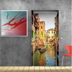 Γονδολιέρης,Βενετία, αυτοκόλλητο πόρτας Stickers, Painting, Decor, Art, Art Background, Painting Art, Sticker, Decorating, Kunst