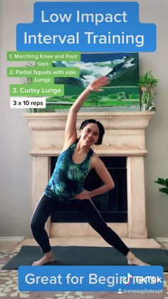 This is a low impact interval training  great for beginners 5 Leg workout sequence to support  cardiac health any  Back pain, Spasm And Tightness Relief this is a gentle exercise  thatwill support the lumbar spine  To learn more and easy Barre Workout to try click the link below go ⬇️ #backpainrelief #backpaintreatment #backpainremedy #legworkoutathome #workout #workoutathome #glutesworkoutathome #workoutsforwomen #lowimpacthiitworkout #cardio #cardioworkouts Easy Workouts For Beginners, Pilates For Beginners, Work Out Beginners, Flexibility Workout, Pilates Workout, Interval Training Workouts, Circuit Training, Gym Workouts, At Home Workouts