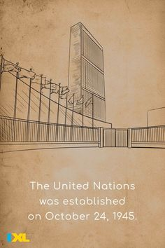 The United Nations is the world's premier international organization. It was established at the end of World War II to maintain world peace. #TBT