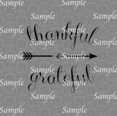 Thankful and Grateful SVG, DXF, EPS, PNG Digital File – Wickedly Cute Designs