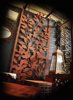 PO Box Designs Branches Design This portrait or landscape orientation panel is intricately designed and laser cut with precise detail and creates a stunning fe Metal Walls, Partition Design, Branch Design, Outdoor Metal Wall Art, Outdoor Screens, Wall Art, Wall Decor, Box Design, Metal Screen