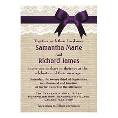 The perfect invitation for our rustic park wedding. From Zazzle.com