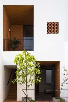 of Apartment in Binh Thanh / Sanuki Daisuke architects - 24 Apartment in Binh Thanh,© Hiroyuki OkiApartment in Binh Thanh,© Hiroyuki Oki Design Exterior, Facade Design, House Design, Minimalist Architecture, Facade Architecture, Computer Architecture, Architecture Awards, Landscape Architecture, Narrow House