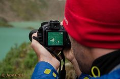 Andean Goose. Gerard Ben my Australian friend exploring the wild life on the Salkantay Hike. Visit us at www.cusitravel.com