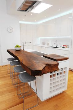 Supreme Kitchen Remodeling Choosing Your New Kitchen Countertops Ideas. Mind Blowing Kitchen Remodeling Choosing Your New Kitchen Countertops Ideas. Kitchen Inspirations, Wood Slab Countertop, Home, Kitchen Remodel, Modern Kitchen, Contemporary Kitchen, New Kitchen, Kitchen Island Design, Home Kitchens
