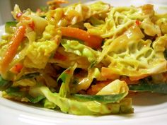 slaw with thai peanut sauce