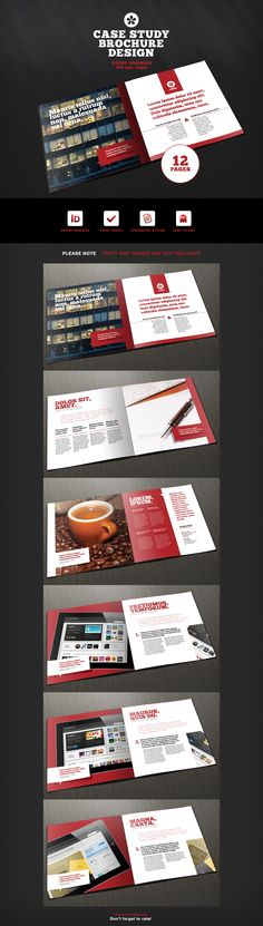 "12 Page Brochure Template for InDesign - would work for MagCloud's 8"" x 8"" Square product"