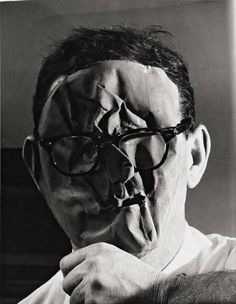 chagalov: Erwin Blumenfeld, Self-Portrait with mask, New York, ca 1958 [ref.: Das Selbstportrait im Fine Art Photography, Portrait Photography, Fashion Photography, Advanced Photography, Concept Photography, Instagram Look, Dada Collage, Fotografia Macro, Georges Braque