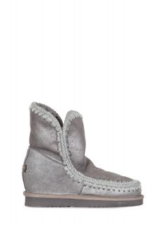 929afd25196 Mou - Low boots - 300739 - Gray - 27900 Sheepskin ankle boot with internal  wedge