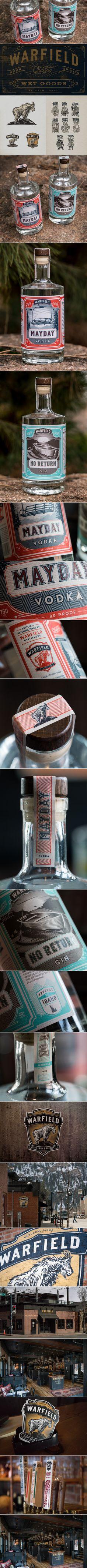 Warfield Distillery & Brewery — The Dieline | Packaging & Branding Design & Innovation News