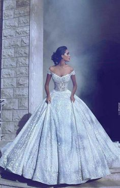 A beautiful wedding gown fit for royalty