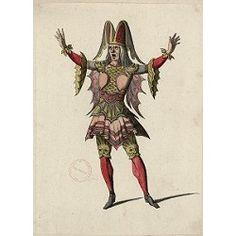 Female costume (Costume design J. Berain) Chateau de Versailles / Bibliothèque municipale de Versailles N°identification : Ms F 88_E8_19