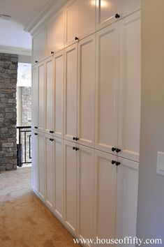 Exquisite Linen Storage Ideas for Your Home Decor Bathroom Linen Cabinets: (Linen Storage Ideas) linen closet, linen cabinet, towel storage ideas hallway closet organization Basement Storage, Built In Storage, Basement Remodeling, Hallway Storage Cabinet, Basement Ideas, Pantry Storage, Basement Bathroom, Kitchen Storage, Bathroom Closet