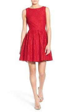 Glitter Lace Skater Dress