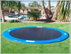 In-ground trampolines! Brilliant! Dig a big hole in your yard and insert... looks better and a heck of a lot safer!!!! Omg awesome idea!!!
