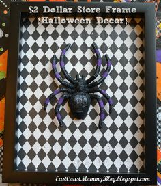 East Coast Mommy: {Halloween Decor} from a $2 Dollar Store Frame