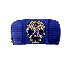 Loungefly Blue Skull Wallet