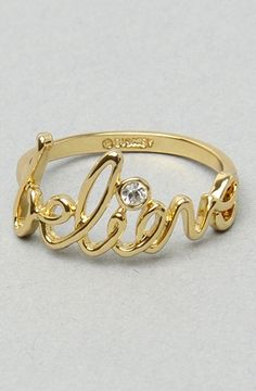The Believe Ring in Gold by Disney Couture Jewelry